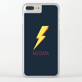 No Data Clear iPhone Case