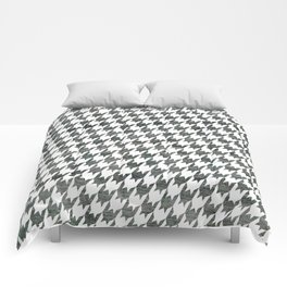 Black and white houndstooth pattern Comforters