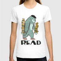 read T-shirts featuring READ by Zachariah  OHora