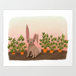 Garden Rabbit Art Print