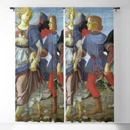 """Workshop of Andrea del Verrocchio """"Tobias and the Angel"""" Blackout Curtain"""