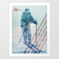 Husky Exploration Art Print