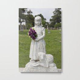 Girl Statue Metal Print