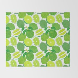 Lime Harvest Throw Blanket