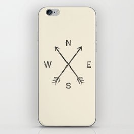 Compass (Natural) iPhone Skin