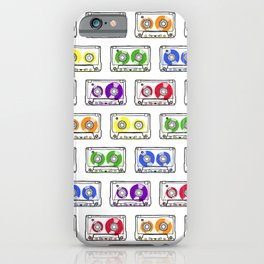 Rainbow Cassette Tapes iPhone Case