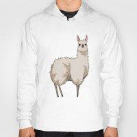 llama Hoodies featuring Llama by Nemki