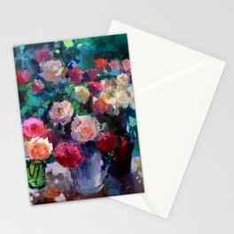 Flowers on The Garden Table Stationery Cards