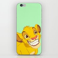 simba iPhone & iPod Skins featuring Simba Pixel Art by Luxatr