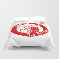 ramen Duvet Covers featuring This Is My Ramen Shirt by Bouké