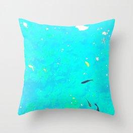 Here, Fishy Fishy.... Throw Pillow