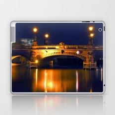 Nocturnal Lights on the river Spree in Berlin Laptop & iPad Skin