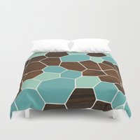 geode Duvet Covers featuring Geode in Blue by jefdesigns