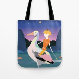 Bird boy and the hills Tote Bag
