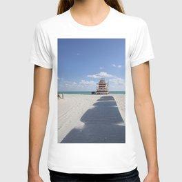 Lifeguard Station at South Beach Miami T-shirt