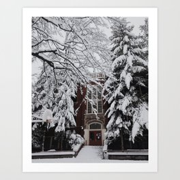 Snow in Portland Art Print