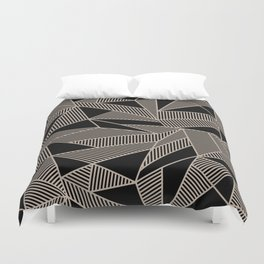 Geometric Abstract Origami Inspired Pattern Duvet Cover