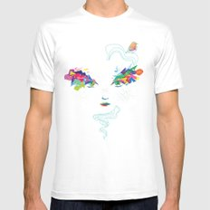In The Air White Mens Fitted Tee MEDIUM
