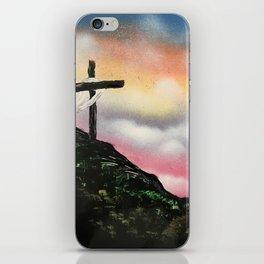 Colorful Sunset Cross iPhone Skin