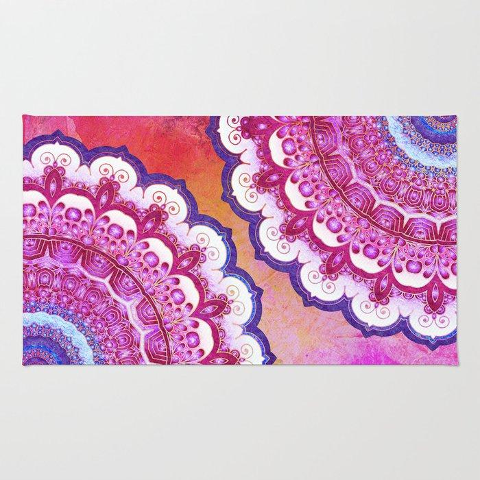 Colorful Watercolor Mandala Rug