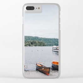 view of the lake in Windermere Clear iPhone Case