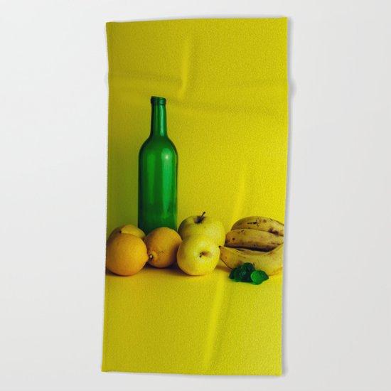 Lemon lime - still life Beach Towel