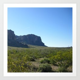 Superstition Mountains Az Art Print