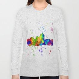 Albuquerque, New Mexico Skyline - Line & Ink 3 Long Sleeve T-shirt