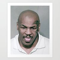 mike tyson Art Prints featuring Mike Tyson Mug Shot by Neon Monsters