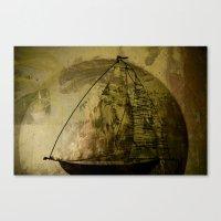 sailboat Canvas Prints featuring Sailboat by Jean-François Dupuis