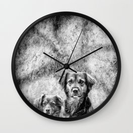 Couple of Dogs Wall Clock