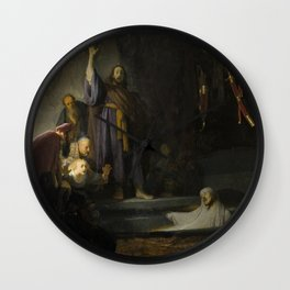 Rembrandt - The Raising of Lazarus (1632) Wall Clock