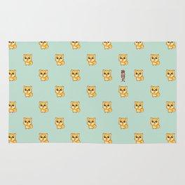 Hachikō, the legendary dog pattern (Green) Rug