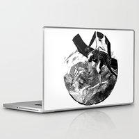 planes Laptop & iPad Skins featuring paper planes by Rzuud