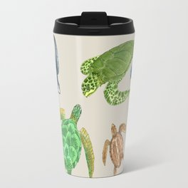 Sea Turtle Types Travel Mug