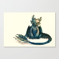 alicexz Canvas Prints featuring Toothless by Alice X. Zhang