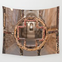 medical Wall Tapestries featuring Prison Medical Ward Gate Cross by Nicolas Raymond