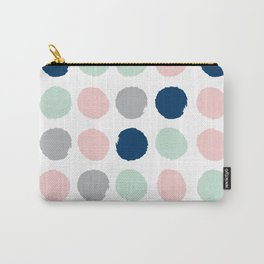 Minimal painted dots gender neutral home decor minimalist nursery baby polka dots Carry-All Pouch