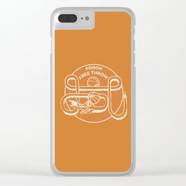 POISON FREE THROW Clear iPhone Case