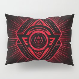 The Eye of Providence is watching you! (Diabolic red Freemason / Illuminati symbolic) Pillow Sham