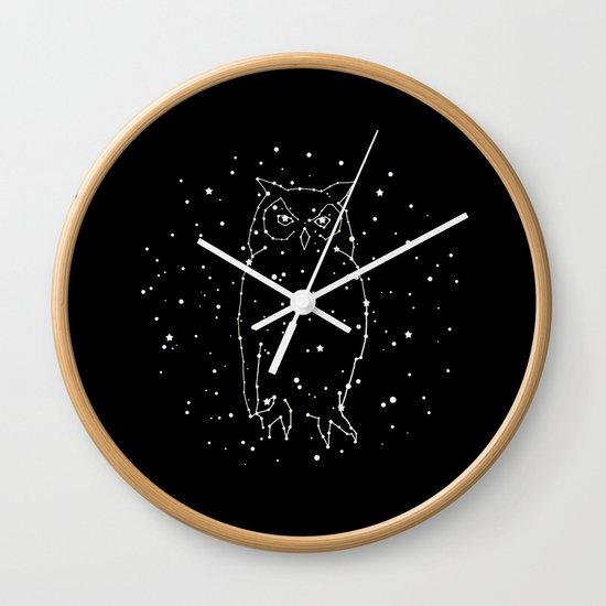 Owl Constellation Wall Clock