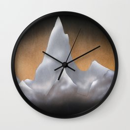 Snowy Mountains Wall Clock