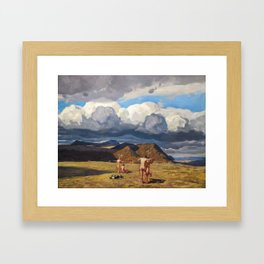 Men and Mountains by Rockwell Kent, 1909 Framed Art Print