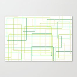 Green Line Pattern Canvas Print