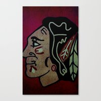 blackhawks Canvas Prints featuring Blackhawks by Jide