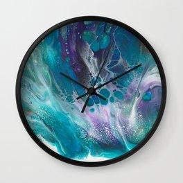 Petal Acrylic Pour Art Wall Clock