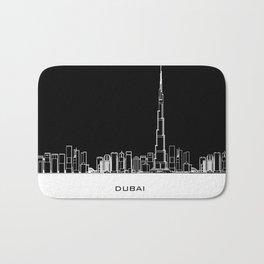 Dubai Skyline - Black Base Bath Mat