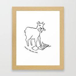 Totes McGoat Framed Art Print