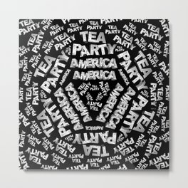 Tea Party Collage Metal Print