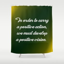 Positive Action Shower Curtain
